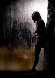 girl+and+rain